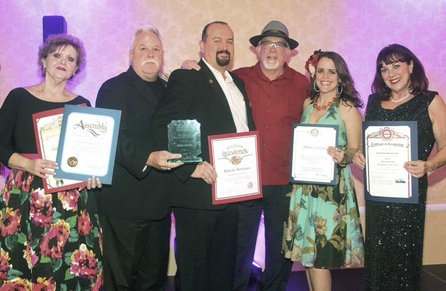 Irwindale presents 2016 Business of the Year to Athens - Community Recognitions, Honors, and Awards