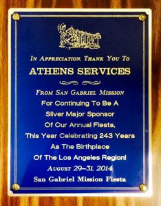 Athens Services Honored by San Gabriel July 2014 - Community Recognitions, Honors, and Awards
