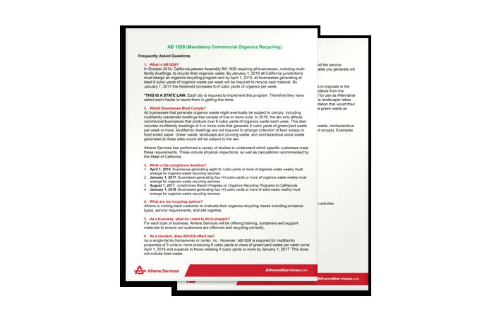 Organics AB 1826 FAQ