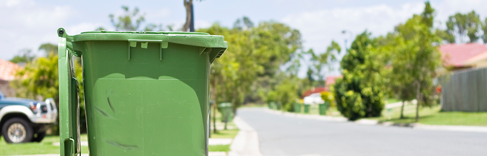 Stock image of trash bin