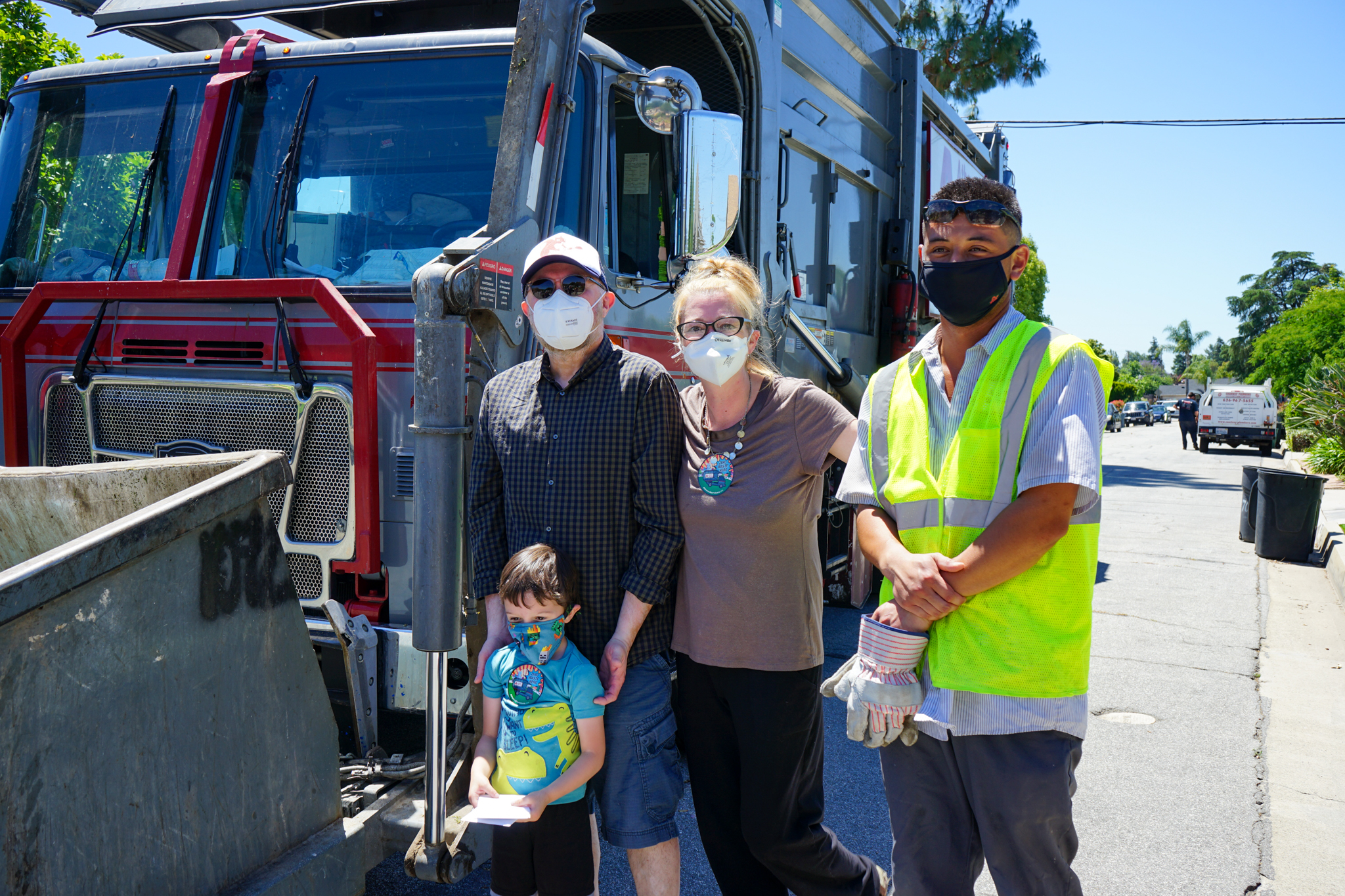 """Glendora Residents Say """"Thank You!"""" to Athens Services Drivers With Block Party 3"""